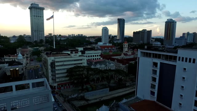 a panned view of kuala lumpur city in malaysia - sultan abdul samad gebäude stock-videos und b-roll-filmmaterial