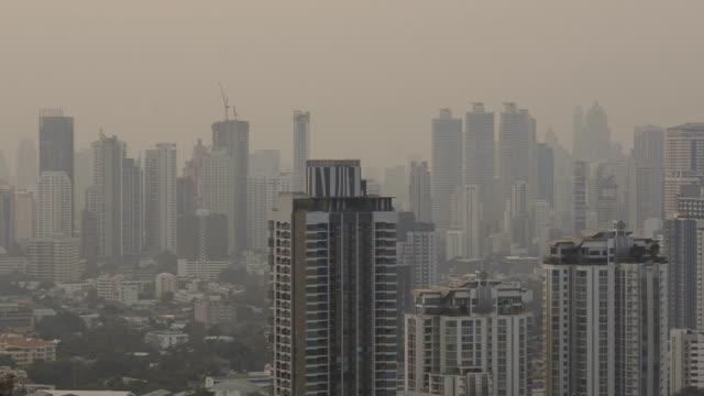 panoramique: la pollution atmosphérique accabler sur la ville de Bangkok