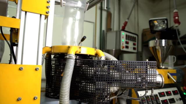 panorering: bubbla form på blåst film extruder