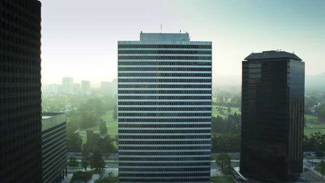 Panning Drone Shot of Century City, Los Angeles