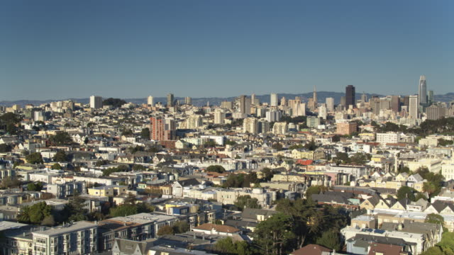 Panning Drone Shot of San Francisco Cityscape