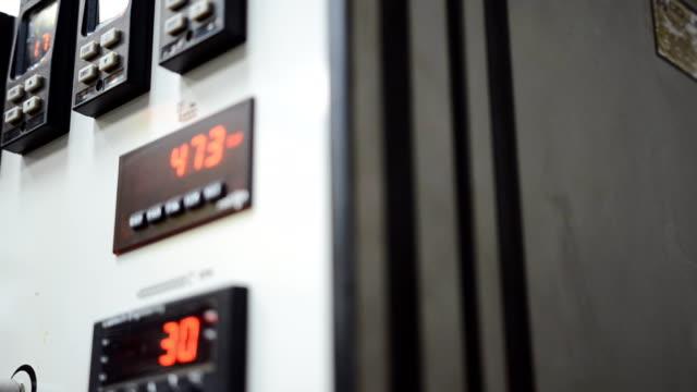 panorering: extruder maskinens kontrollpanel