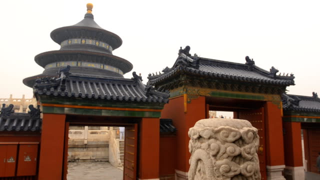 panning: gate is onthe temple of heaven under pollution