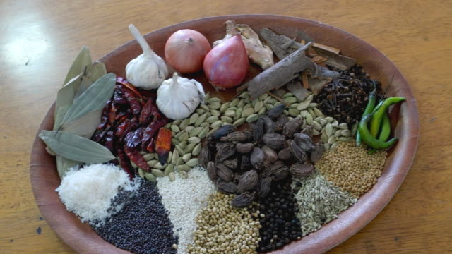Panning into  the most common spices and other flavouring substances used in India cooking
