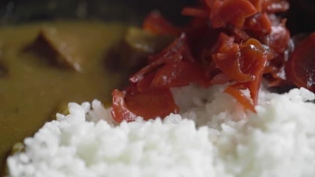 cuパン日本牛カレーライス - カレー料理点の映像素材/bロール