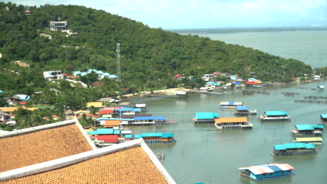 panning: koh yor village in coastline - songkhla province stock videos and b-roll footage