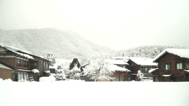 パン: 白川郷村で一日を雪が無い