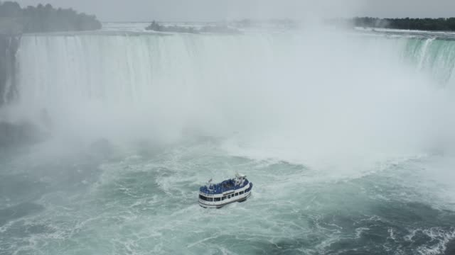 panning of niagara falls - niagara falls stock videos & royalty-free footage