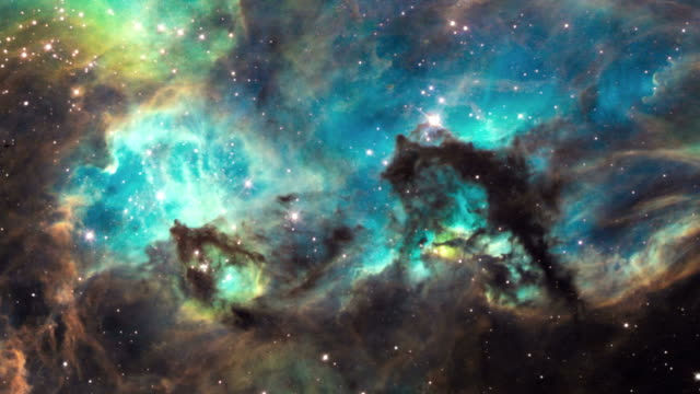 panning on the nebula and star cluster ngc 2074 in the nearby constellation large magellanic cloud. - nebula stock videos & royalty-free footage