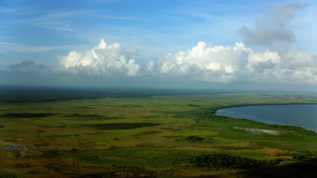 Panning Over Coastal Landscape In Yucatan