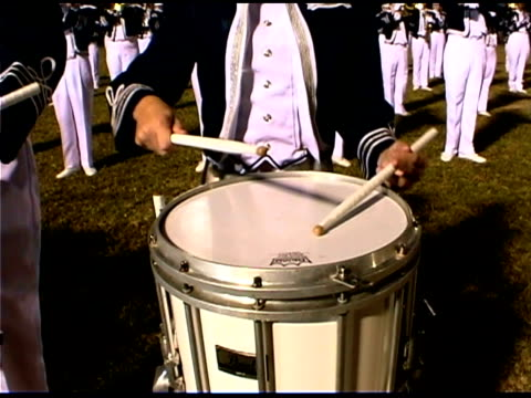 Panning over drummers in marching band