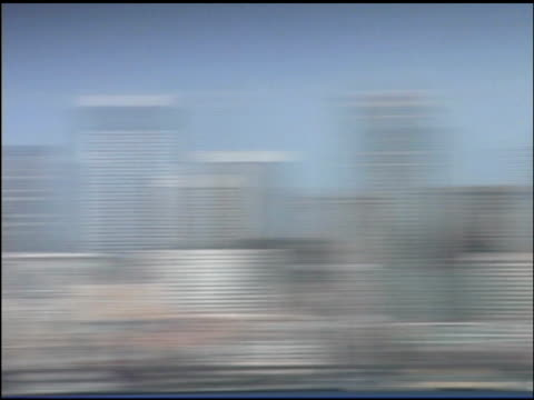 panning over seattle skyline, washington - swish pan stock videos & royalty-free footage