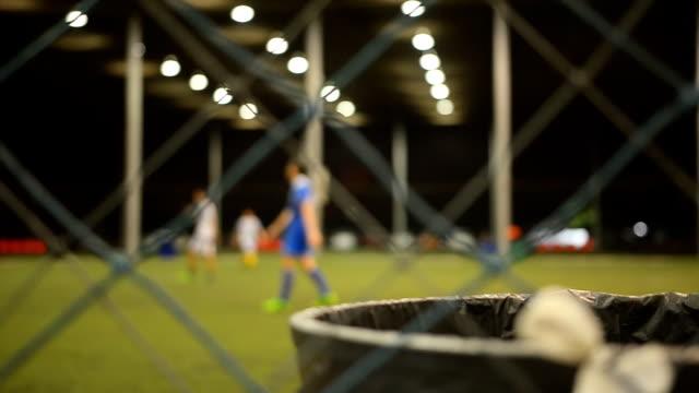 panning: play soccer in indoor stadium - indoor soccer stock videos & royalty-free footage