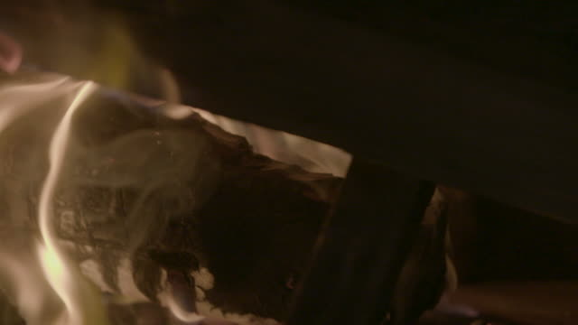 panning shot of wood and papers burning in the fire - 18th century style stock videos & royalty-free footage