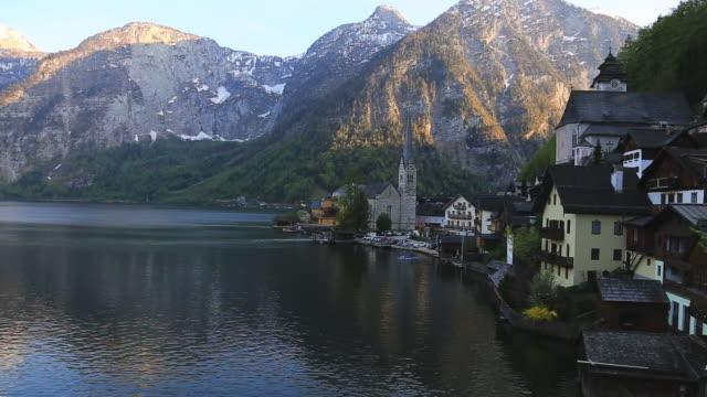 panning shoot: hallstatt ,austria - traditionally austrian stock videos & royalty-free footage