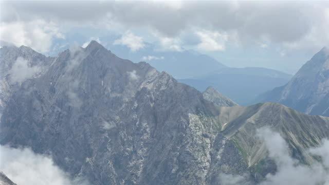 panoramique photo: vue aérienne Zugspitze Alpes Alpine mountain paysage cuisinière de l'Allemagne