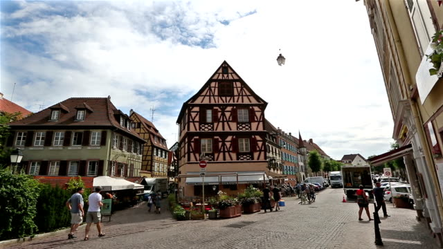 panoramique photo : Village de Colmar Cityscape Alsace France en été
