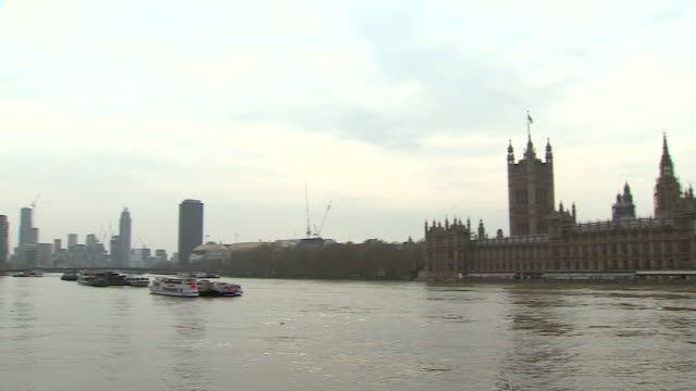 panning shot from the houses of parliament to st thomas' hospital - politics stock videos & royalty-free footage