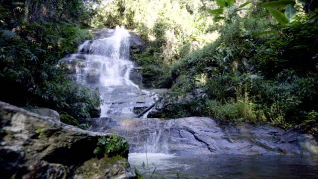 4K panning shot, Mon Tha Than waterfall.