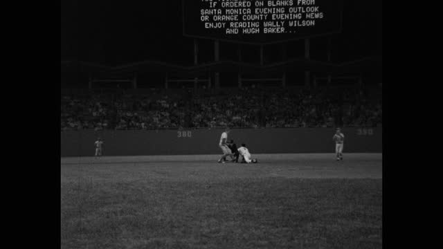 panning shot of baseball game, dodger stadium, los angeles, california, usa - medium group of people stock videos & royalty-free footage