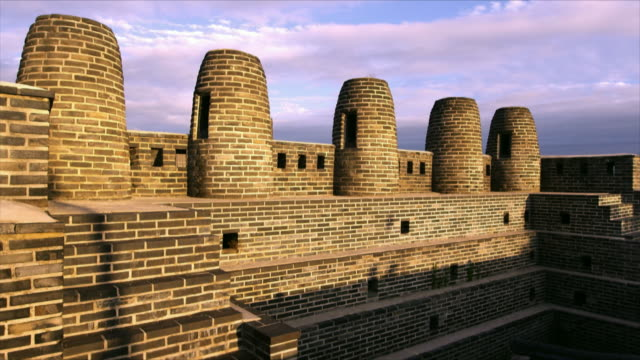 panning shot of bongdon (beacon tower) at suwon hwaseong fortress (unesco heritage site) - suwon stock videos and b-roll footage