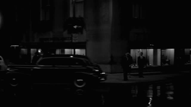 panning shot of cars driving on street at night, park avenue, new york city, new york state, usa - 1941 stock videos & royalty-free footage