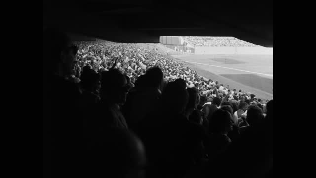 panning shot of crowd of audience cheering and clapping hands while watching baseball game in dodger stadium, los angeles, california, usa - 20 seconds or greater stock videos & royalty-free footage