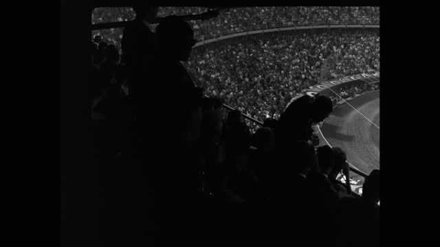 panning shot of crowd of audience cheering while watching game in dodger stadium, los angeles, california, usa - 20 seconds or greater stock videos & royalty-free footage