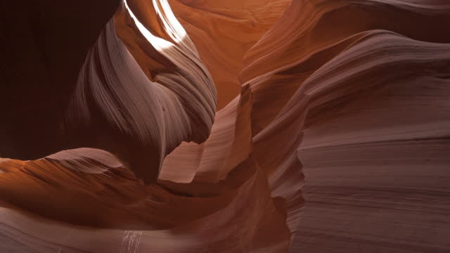 panning shot of low angle of lower antelope canyon navajo tribal park in utah usa - slot canyon stock videos & royalty-free footage