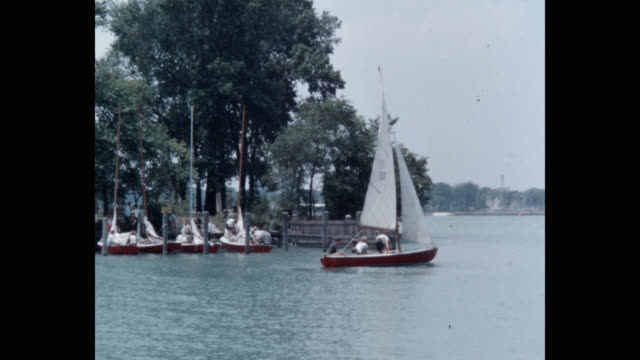 panning shot of people sailing in river - sailor stock videos & royalty-free footage