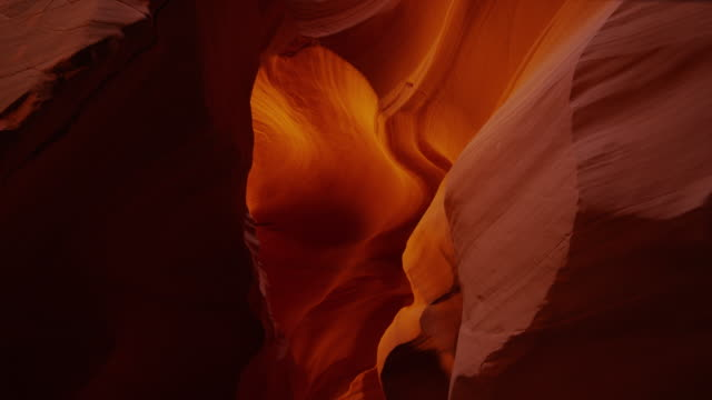 Panning shot of walls of Canyon X / Canyon X, Arizona, United States,