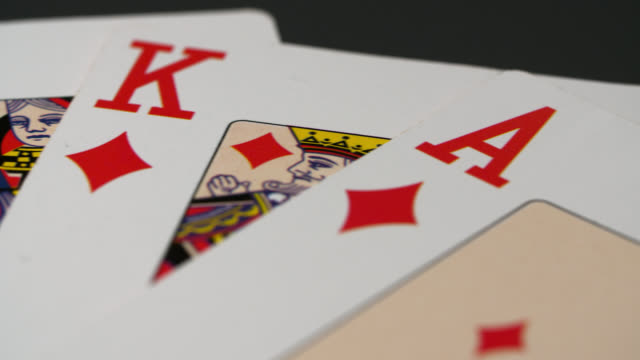 panning shot royal flush playing cards - five objects stock videos & royalty-free footage