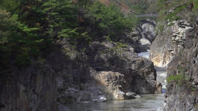 panning shot ryuyo gorge nikko tochigi japan - satoyama scenery stock videos & royalty-free footage