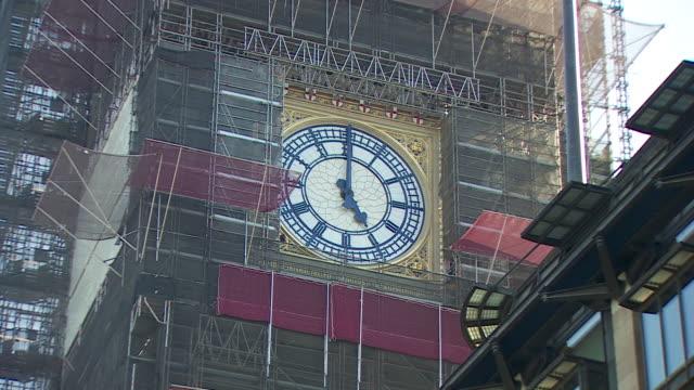 panning shot showing the big ben clockface - politics stock videos & royalty-free footage