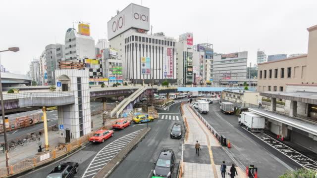Panning Time Lapse :The JR Ueno Station at Ueno district,Tokyo,
