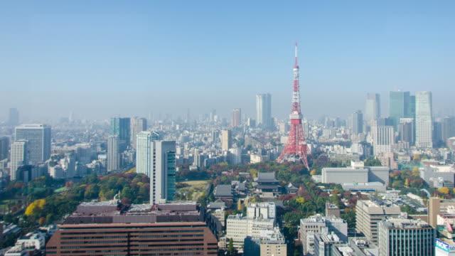 4 k パンの時間経過: 東京都の東京タワー - パン効果点の映像素材/bロール