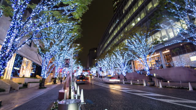 4k panning time-lapse:keyakizaka street at roppongi in tokyo ,... - roppongi stock videos and b-roll footage
