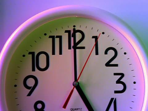 panning to show various wall clocks - einige gegenstände mittelgroße ansammlung stock-videos und b-roll-filmmaterial