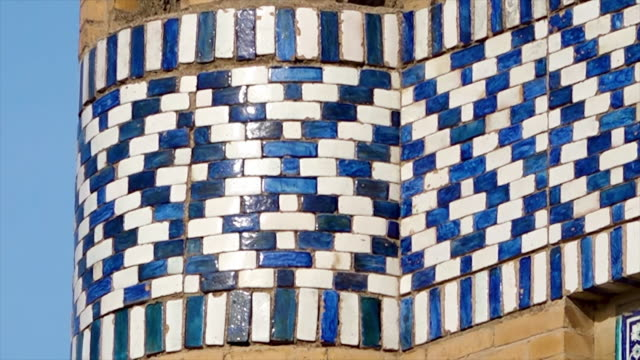 panning towards a mosaic temple pattern - crisscross stock videos & royalty-free footage