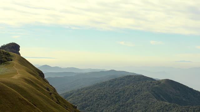 panning: dei viaggiatori è piccolo rispetto alle grandi natura di Doi LUN Jong montagna