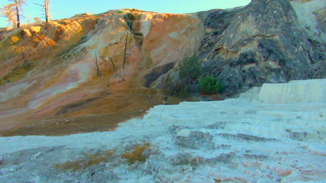 Panning View: Golden Yellow to Frosty White Rocks