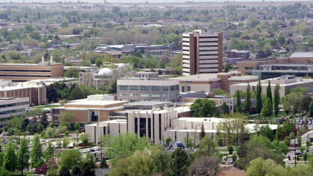 panning view of byu campus in provo utah - provo stock videos & royalty-free footage
