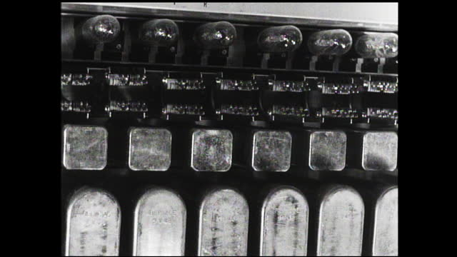 panning view of circuit board - 1940 1949 video stock e b–roll