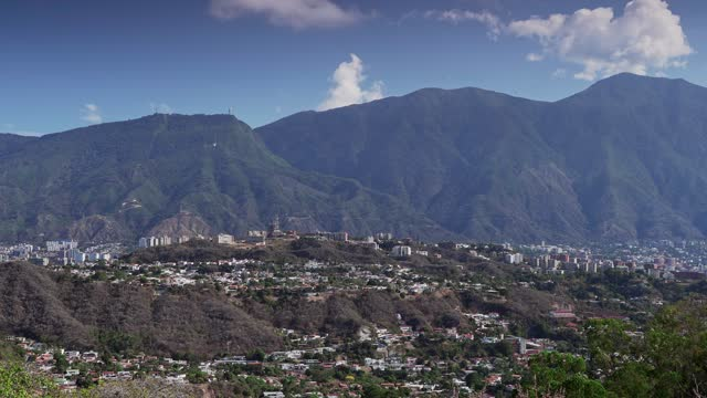 panning view of eastern district in caracas city valley with el avila at the background - majestic stock videos & royalty-free footage