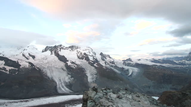 Panning view of Matterhorn Glacier, Switzerland