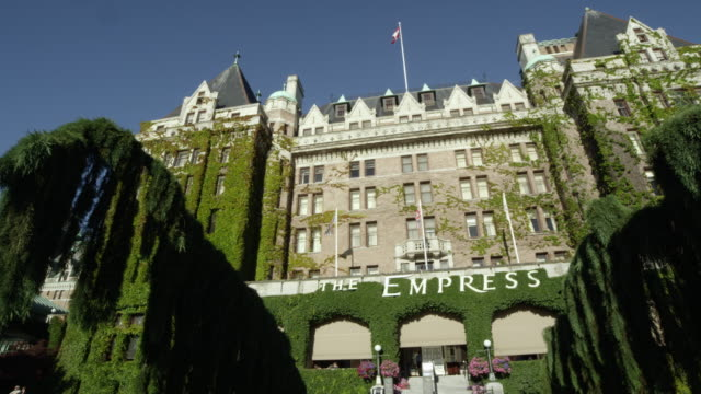 Panning view of The Empress Hotel