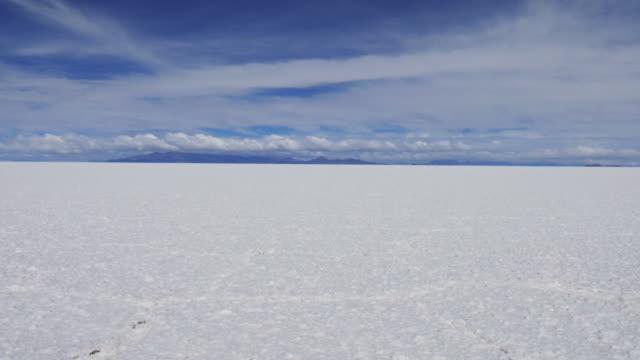 panning view of the uyuni salar - ウユニ塩湖点の映像素材/bロール