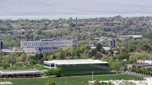panning view over provo and byu campus - provo stock videos & royalty-free footage