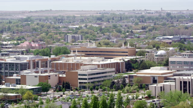 panning view over provo utah viewing byu and downtown - provo stock videos & royalty-free footage