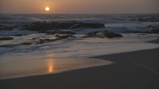 ws panning views of ocean shore, california - general view stock videos & royalty-free footage